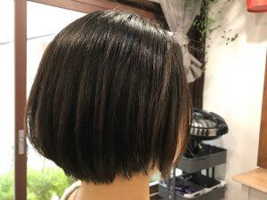 縮毛矯正をかけている方のショートヘアはこんな感じがオススメです。