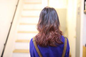 実はこんなカラーも好きなんです!グラデーションカラーで毛先ピンク!!