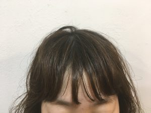最近のオシャレな前髪、前髪パーマで簡単にできます!