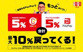 PayPayで10%戻ってくるキャンペーン中です。画像